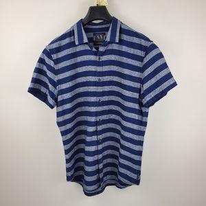 Armani Exchange Short Sleeve Button Up Shirt Large